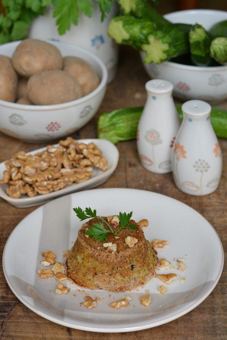Sformatini di zucchine e patate: infornare