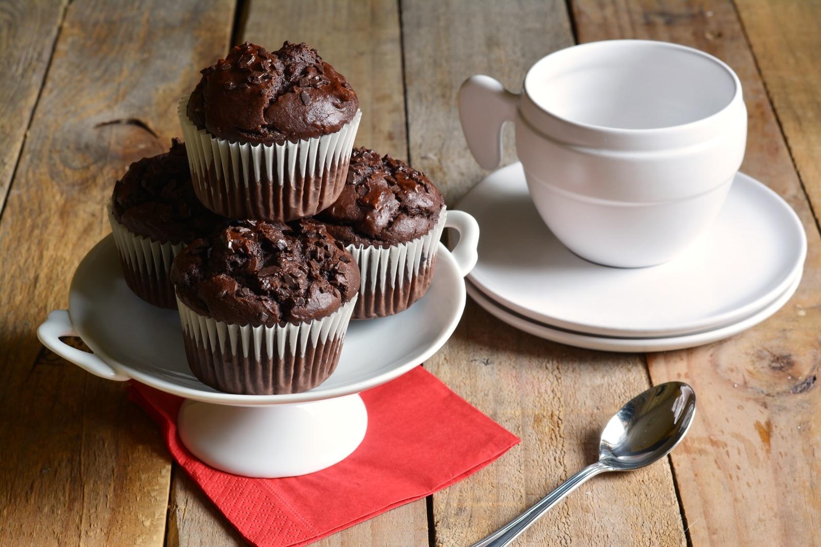 Muffin al cioccolato e ricotta