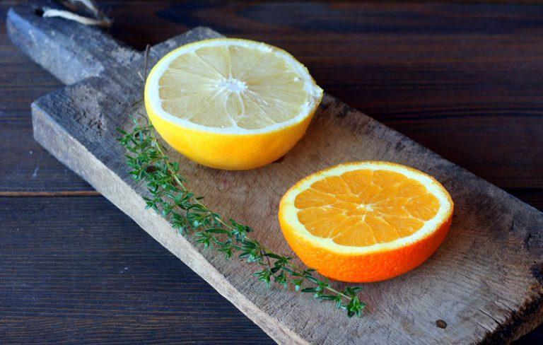 A fine cottura irrorateli con il succo di un'arancia e mezzo pompelmo e due cucchiaini di zucchero di canna.