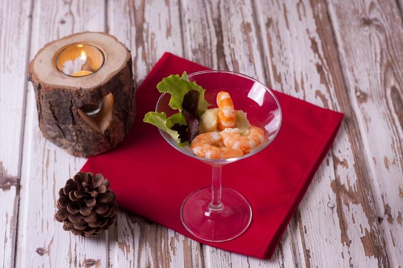 Cocktail di gamberi con maionese di sedano rapa