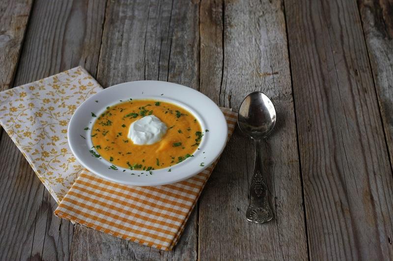 Cremosità di carote e yogurt