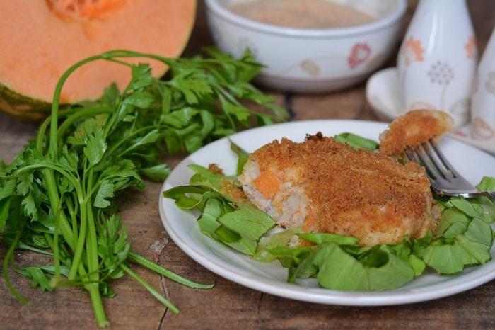 Hamburger di tonno, patate e zucca