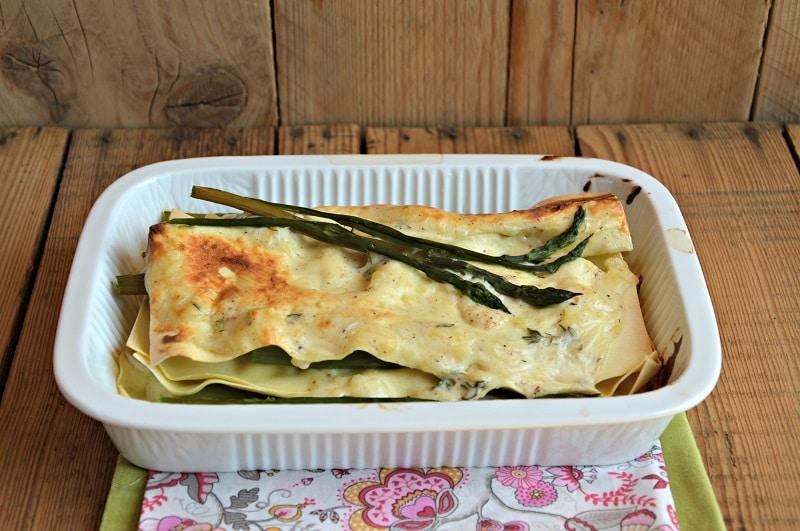 Lasagna con asparagi