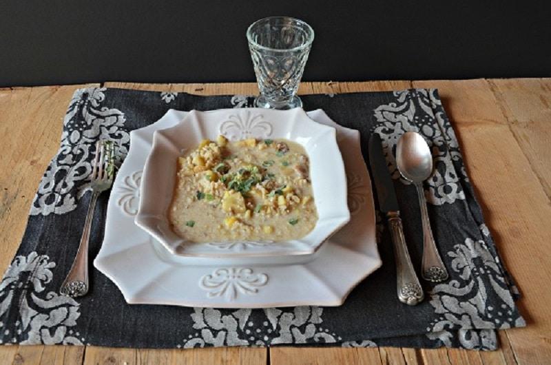 Minestra di riso e castagne