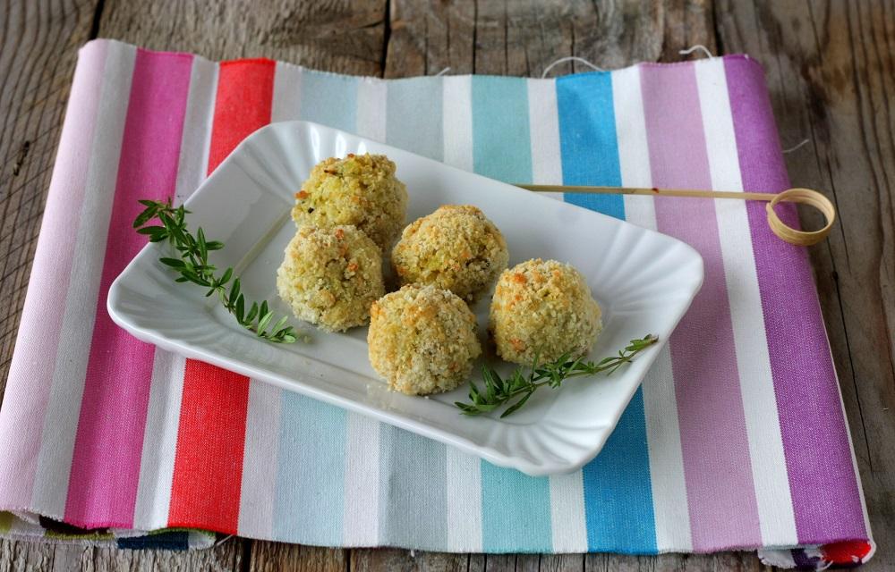Polpette di riso e fiori di zucchino