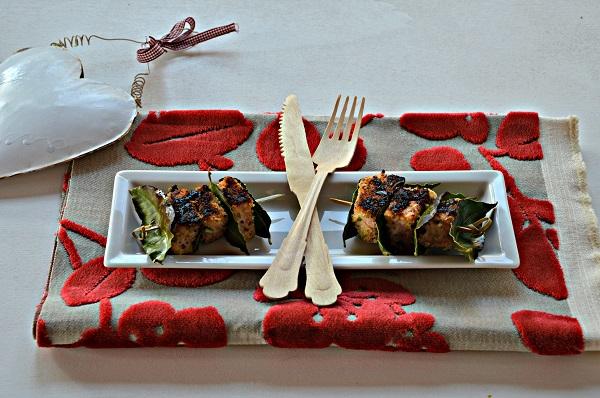 Bocconcini di salmone in crosta di pistacchi