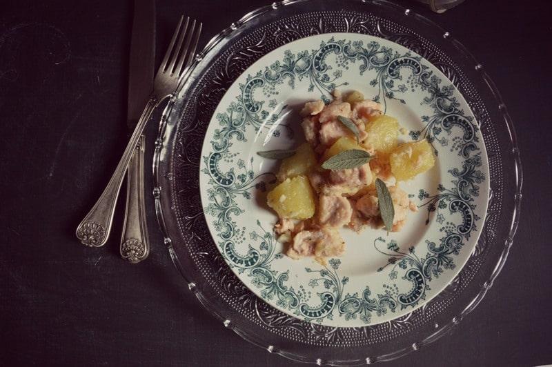 Salmone e patate profumati alla vaniglia
