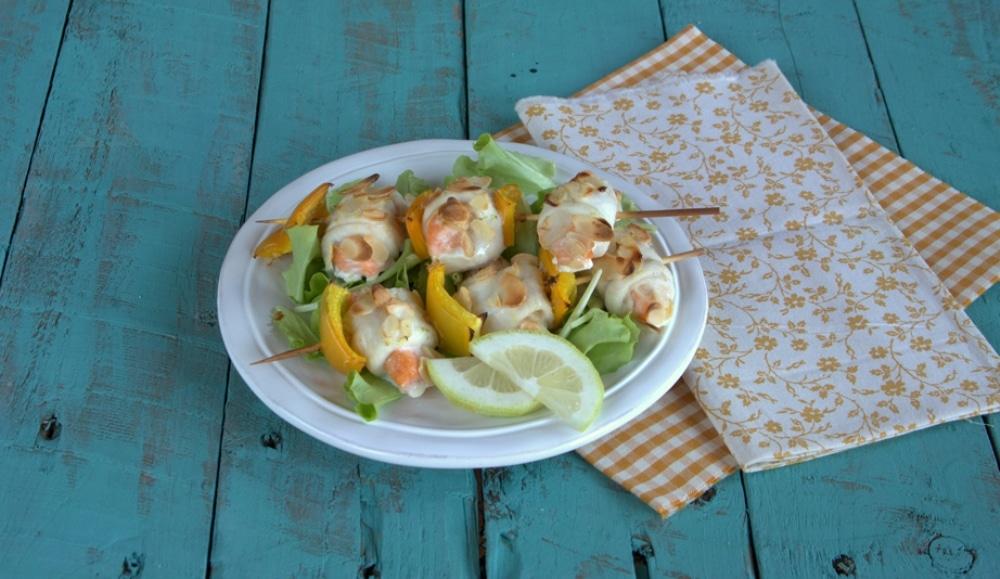 Spiedini di sogliola e salmone al limone