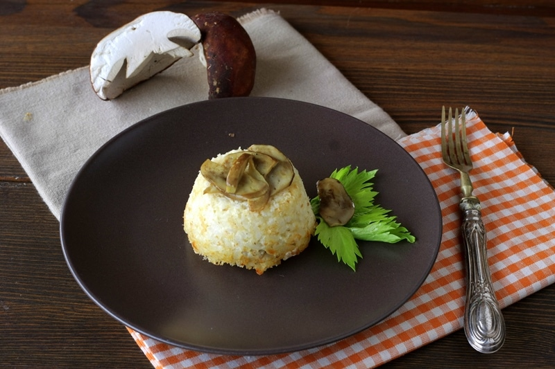 Timballini di riso con cuore di funghi