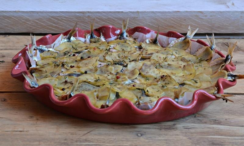 Tortino di sarde e patate
