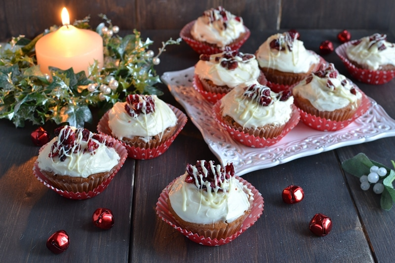 Cupcakes mirtilli rossi e cioccolato