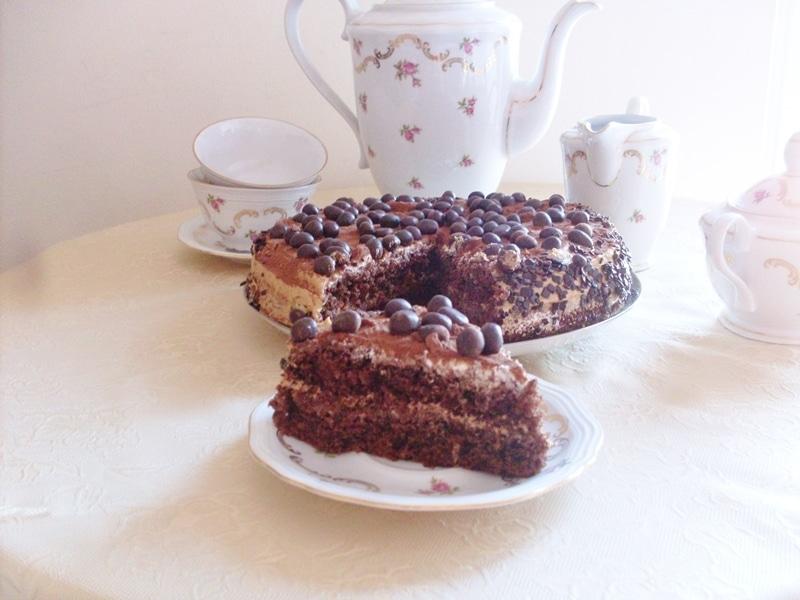 Torta ciocco moka, torta al cioccolato e caffè