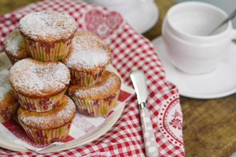 Muffin con wafer e cioccolato bianco