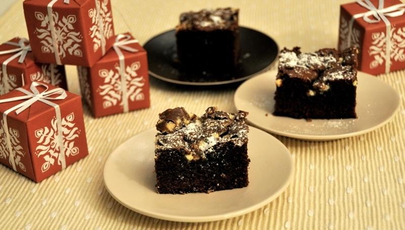 """Brownies di Natale """"Dolcenatale"""""""