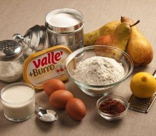 Torta di pere al cacao: gli ingredienti