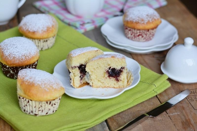 Muffin con cuore alle more