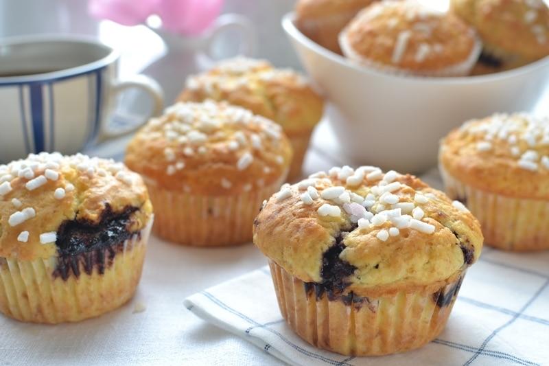Muffins con ripieno cheesecake