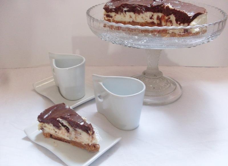 Cheesecake cremino ai 2 cioccolati