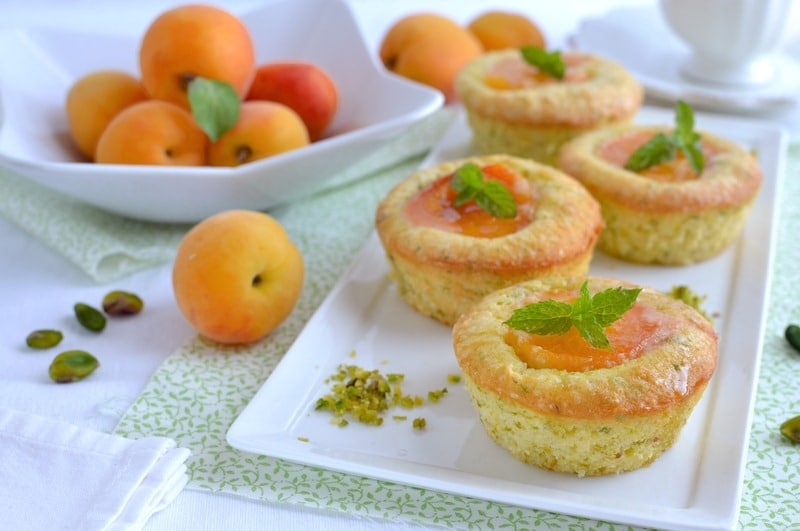 Tortini morbidi albicocca e pistacchio