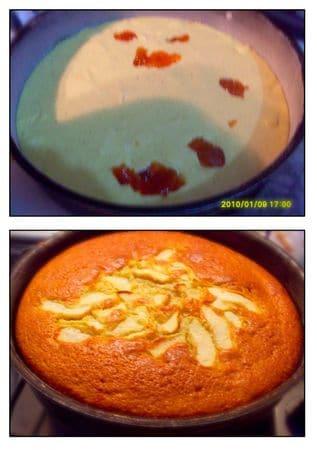 Mettere meno della metà dell'impasto nella tortiera. Riempire di mele un'altro strato sottile d'impasto. Aggiungere poi, qualche cucchiaiata di marmellata (meglio quella di amarene). Chiudere usando altro impasto. Disporre le mele restanti e un pò di zucchero semolato. Infornare a 170°C per 50 min