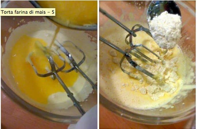 Separate le uova: montate a neve gli albumi e, a parte frullate i tuorli con lo zucchero finché diventano chiari e soffici Versate la margarina fusa nei tuorli, aggiungete la scorza di limone e frullate ancora a bassa velocita'. Continuando a frullare, incorporate le farine un cucchiaio alla volta, fermandovi a metà per aggiungere anche il latte.
