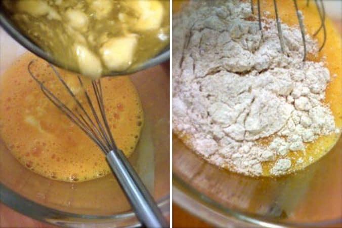 Tagliate la mela e le albicocche a pezzettoni