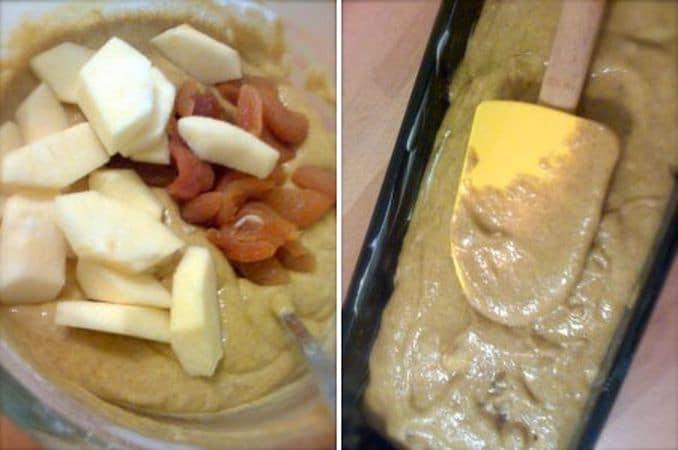 Sbattete le uova con lo zucchero, poi aggiungete il miele misto a margarina è mescolate bene<br /> 4.    Mescolate le due farine e il lievito, poi incorporate la composto di uova, margarina e miele alternando con qualche cucchiaio di latte