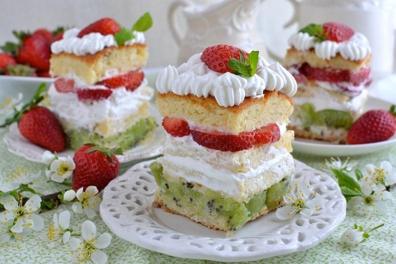 Tortini di frutta tricolore