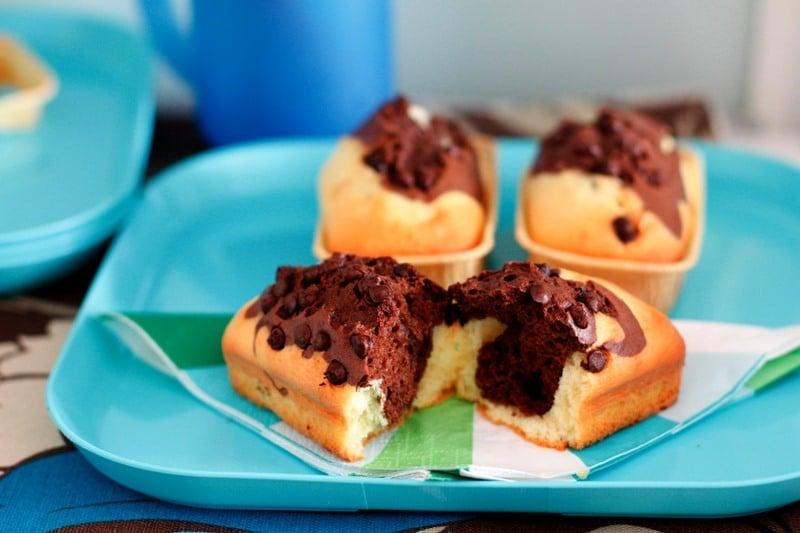 Mini plumcake al doppio cioccolato