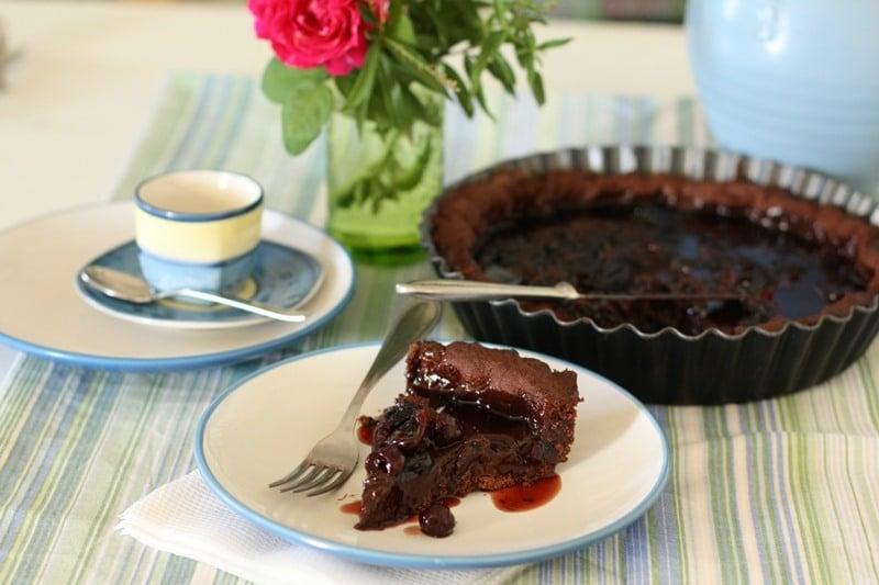 Crostata cioccolato e amarene