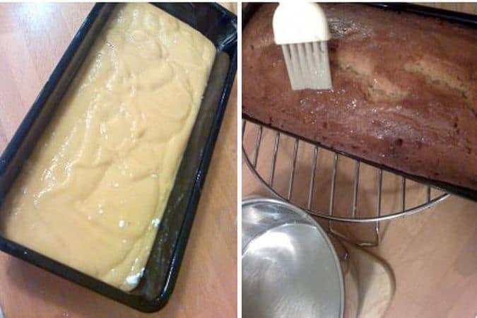 Versate il composto in uno stampo da plumcake unto di margarina e infornate per 45 minuti. Quando togliete la torta dal forno, scaldate 3 cucchiai di miele e spennellate il dolce ancora caldo. Fate raffreddare nello stampo