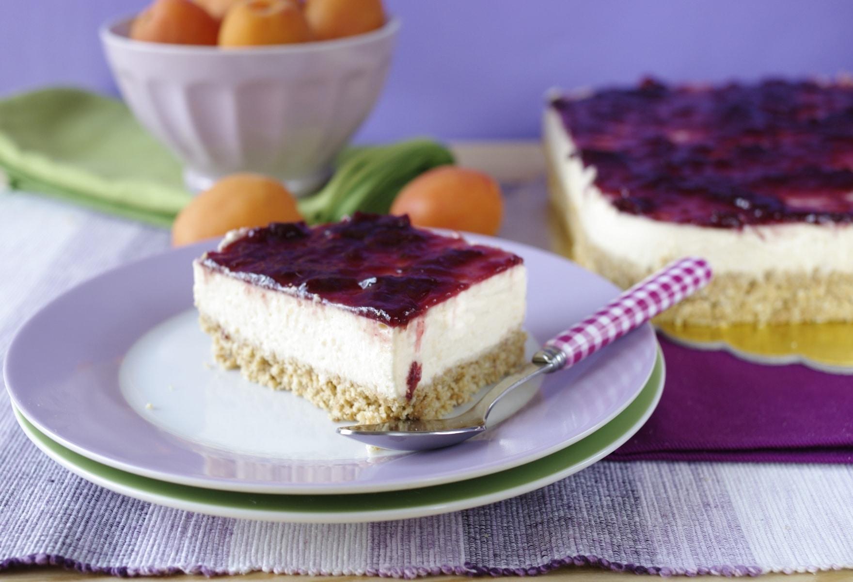 Cheesecake melone e ciliegie