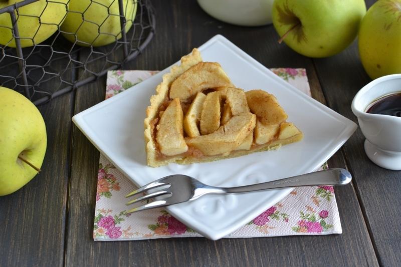 Crostata di mele e sciroppo d'acero