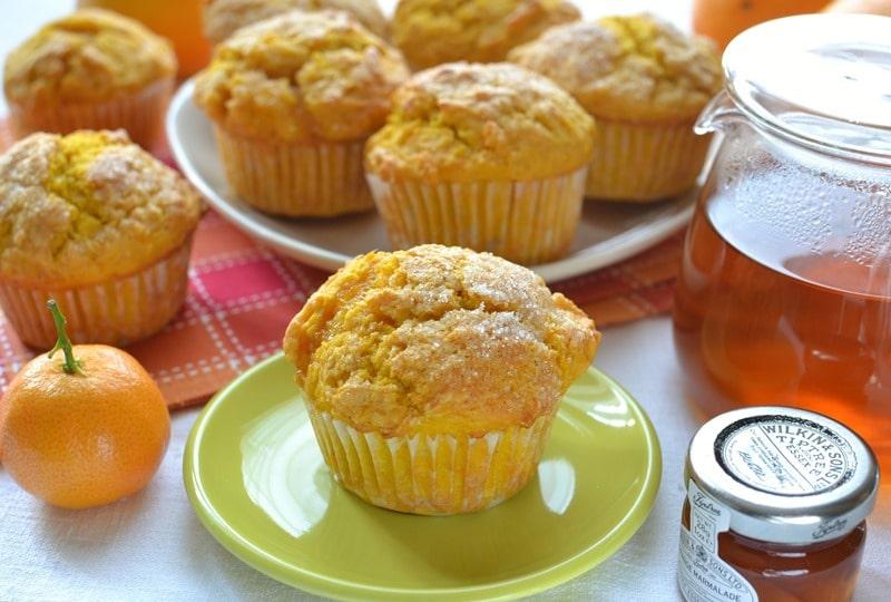 Muffins zucca e arancia