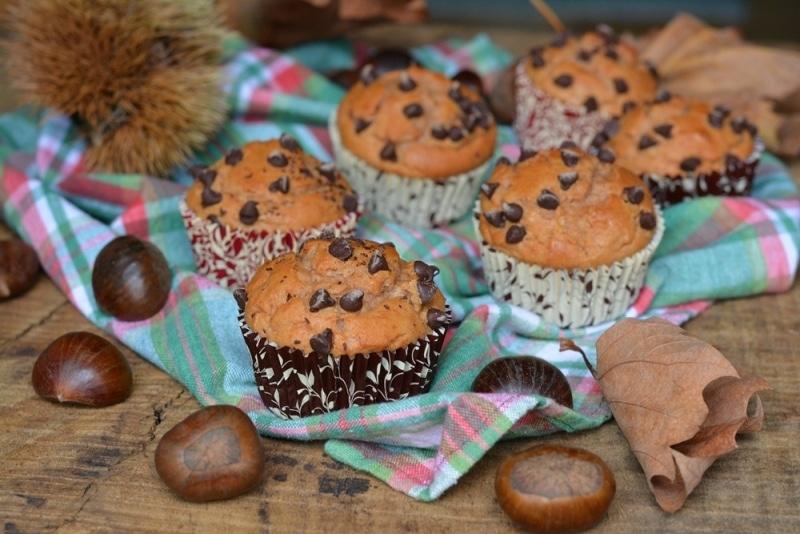 Muffin con farina di castagne e ricotta