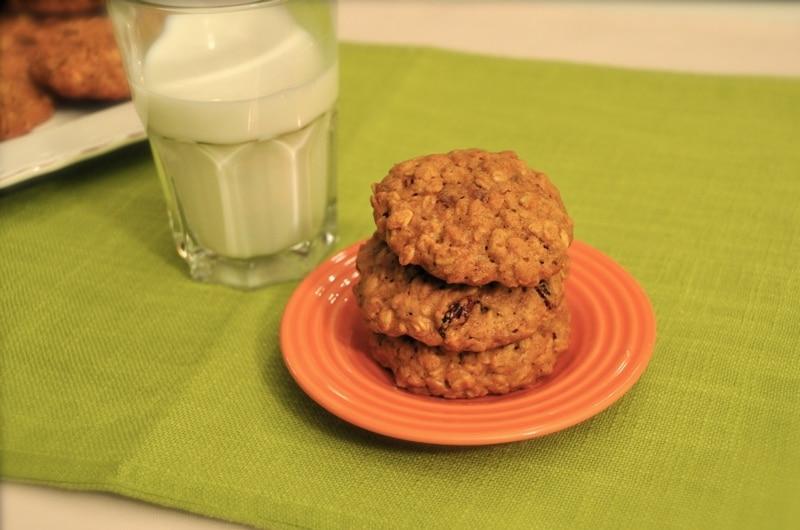 Biscotti di avena e mirtilli rossi