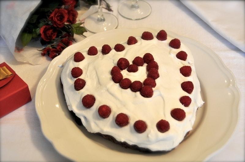 """Cuore di cioccolato e lamponi """"San Valentino"""""""