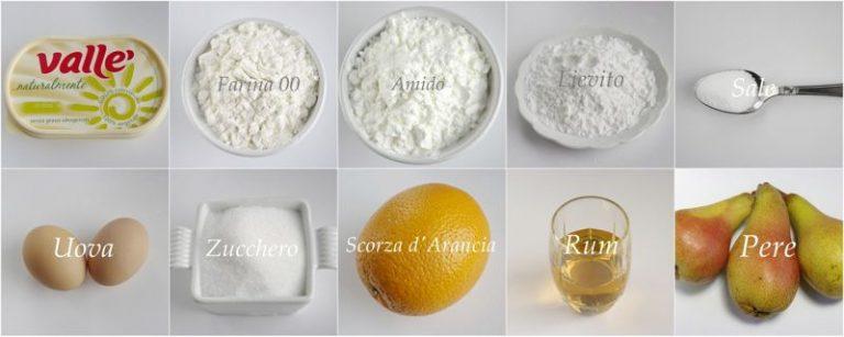 Ingredienti. Setacciare in una ciotola la farina, l'amido, il sale ed il lievito. Sbucciare, dividere in quarti, togliere il torsolo e tagliare a fettine le pere