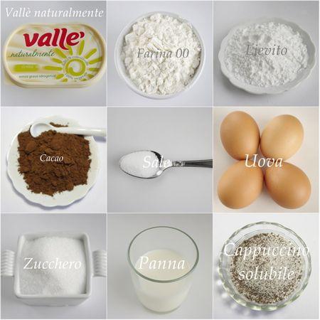 Ingredienti. Setacciare in una ciotola la farina, il cacao, il lievito ed il sale.