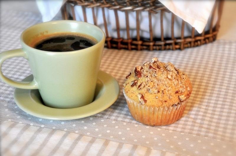 Muffins allo sciroppo d'acero e noci pecan