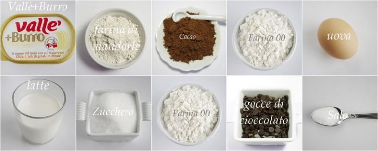 Ingredienti. Setacciate in una ciotola la farina con il lievito ed il cacao, aggiungete la farina di mandorle, lo zucchero ed il sale
