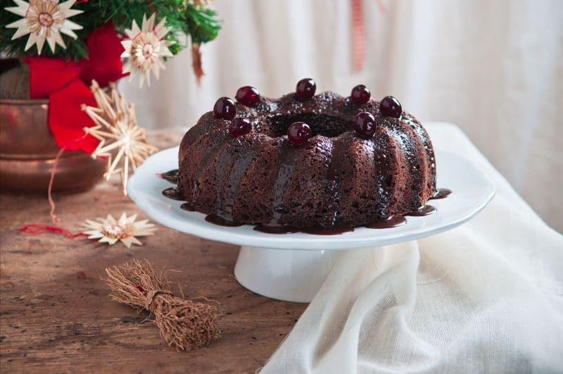Torta di Natale al doppio cioccolato
