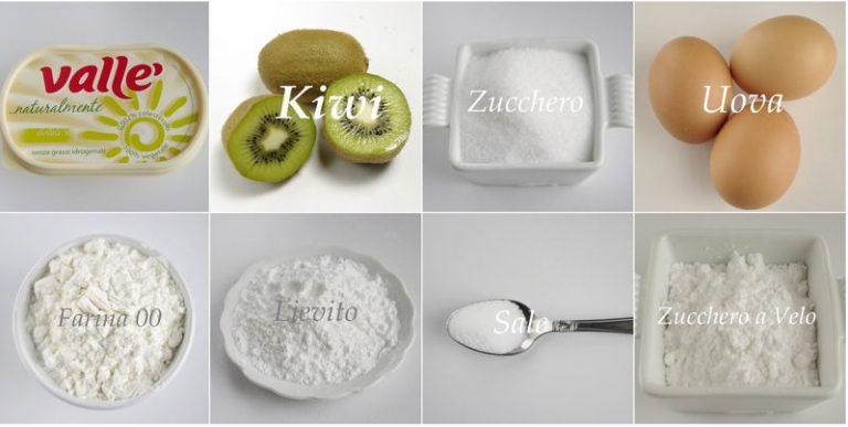 Torta ai kiwi: gli ingredienti
