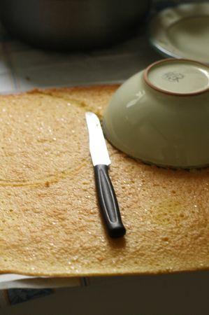 Preparare la crema pasticcera mescolando insieme farina, zucchero, tuorli e latte e portando ad ebollizione sul fuoco, girando continuamente con un cucchiaio di legno. Aggiungere il limoncello secondo il proprio gusto