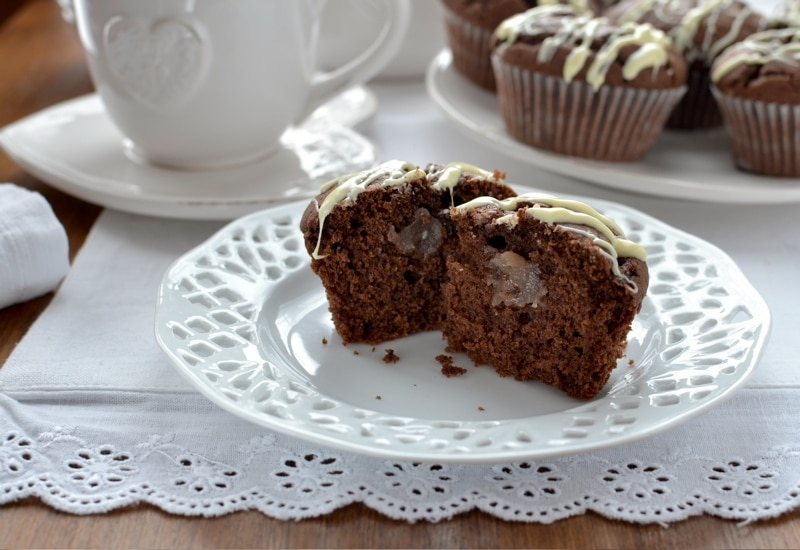 Tortini al cioccolato con cuore di castagne