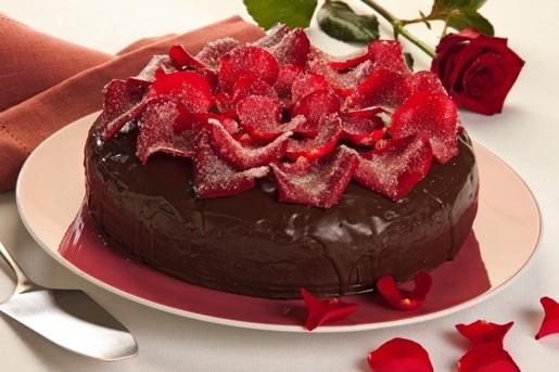 """Torta ai petali di rosa brinati """"Torta Soffice"""""""
