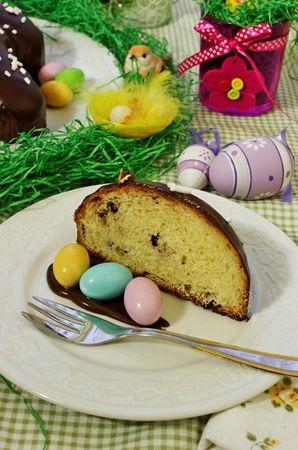 Servire con ovetti di zucchero e tanta crema al cioccolato!