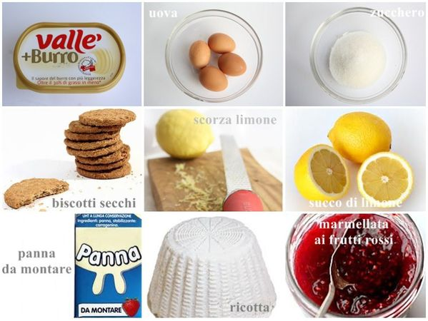 Cheesecake alla ricotta - Ingredienti