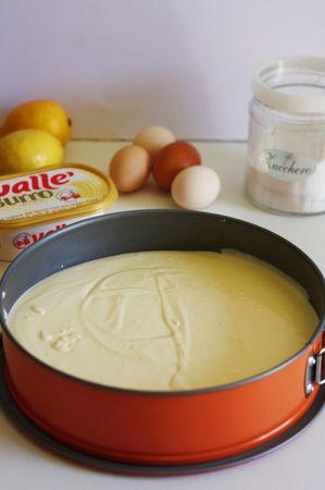 cischeic alla ricotta - versare il composto sulla base di biscotti ed infornare a 180° per circa 30min