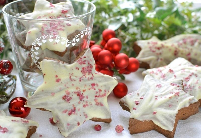 Stelle dolci al cioccolato e pepe rosa